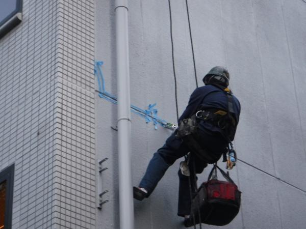 東京都中央区 商業ビル 外壁補修工事