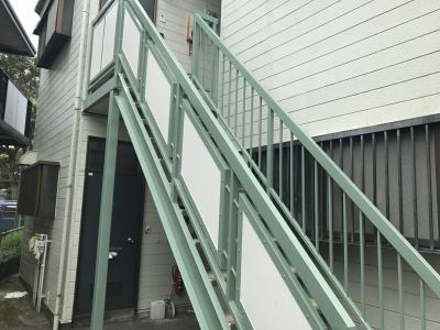 横浜市保土ヶ谷区 Kアパート外部階段塗装・床工事