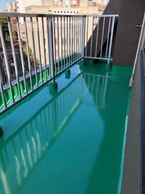 横浜市中区 Sビル ベランダ防水工事  施工完了