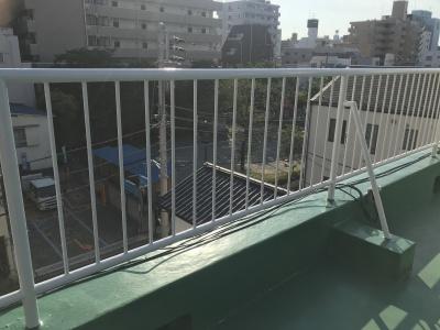 横浜市南区 S様邸 屋上手摺塗装工事 施工完了